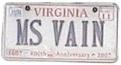 bad vanity plate