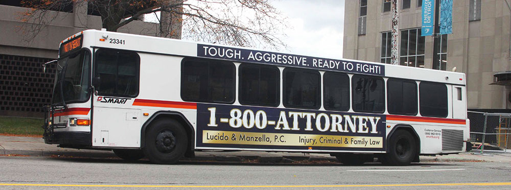 Attorney Bus Advertisement